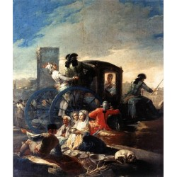 The Crockery Vender by Francisco de Goya-Art gallery oil painting reproductions