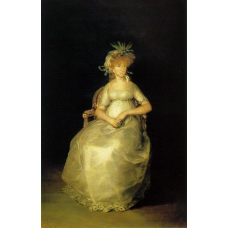 Countess of Chinchon by Francisco de Goya-Art gallery oil painting reproductions