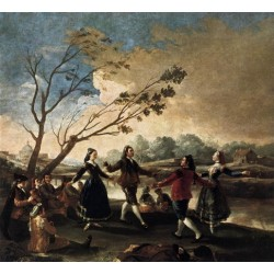 Dance of the Majos at the Banks of Manzanares by Francisco de Goya-Art gallery oil painting reproductions