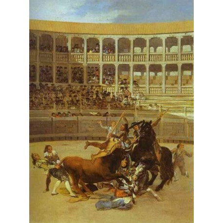 Death of the Picador by Francisco de Goya-Art gallery oil painting reproductions