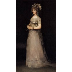 Portrait of the Countess of Chinchon by Francisco de Goya-Art gallery oil painting reproductions