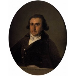 Portrait of Martin Zapater by Francisco de Goya-Art gallery oil painting reproductions