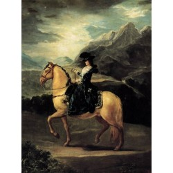 Portrait of Mar A Teresa de Vallabr by Francisco de Goya-Art gallery oil painting reproductions