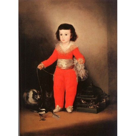 Don Manuel Osorio Manrique de Zuñiga by Francisco de Goya-Art gallery oil painting reproductions