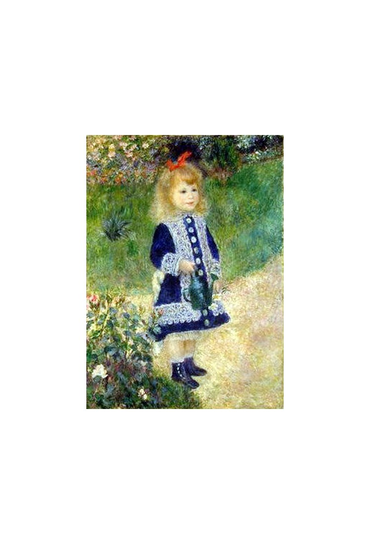 A Girl with a Watering Can by Pierre Auguste Renoir-Art ...