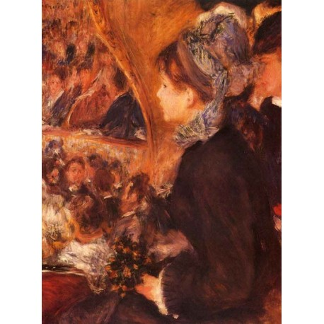 At the Theatre by Pierre Auguste Renoir-Art gallery oil painting reproductions