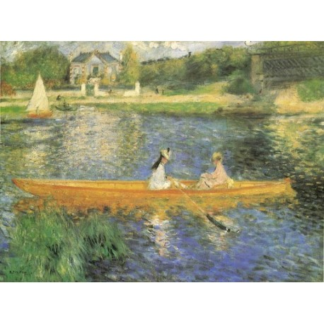 Banks of the Seine1879 by Pierre Auguste Renoir-Art gallery oil painting reproductions