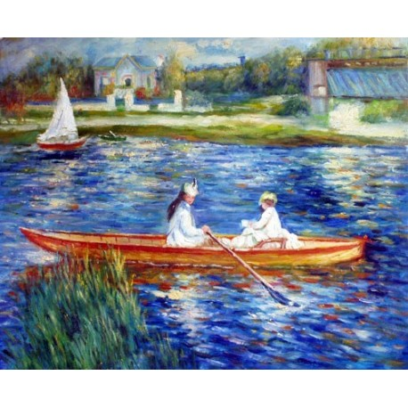 Boating on the Seine by Pierre Auguste Renoir-Art gallery oil painting reproductions