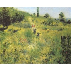 Country Footpath in the Summer 1874 by Pierre Auguste Renoir-Art gallery oil painting reproductions