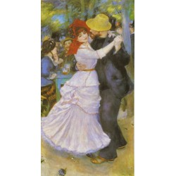 Dance at Bougival by Pierre Auguste Renoir-Art gallery oil painting reproductions