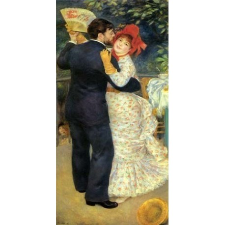 Dance in the Country by Pierre Auguste Renoir-Art gallery oil painting reproductions