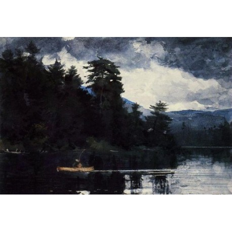 Adirondack Lake by Winslow Homer - Art gallery oil painting reproductions