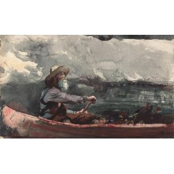 Adirondacks Guide 1892 by Winslow Homer - Art gallery oil painting reproductions
