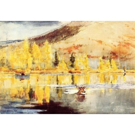 An October Day by Winslow Homer - Art gallery oil painting reproductions
