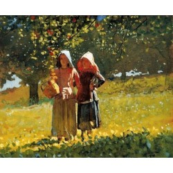 Apple Picking by Winslow Homer - Art gallery oil painting reproductions