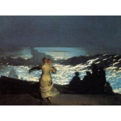 A Summer Night by Winslow Homer - Art gallery oil painting reproductions