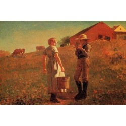 A Temperance Meeting or Noon Time by Winslow Homer - Art gallery oil painting reproductions