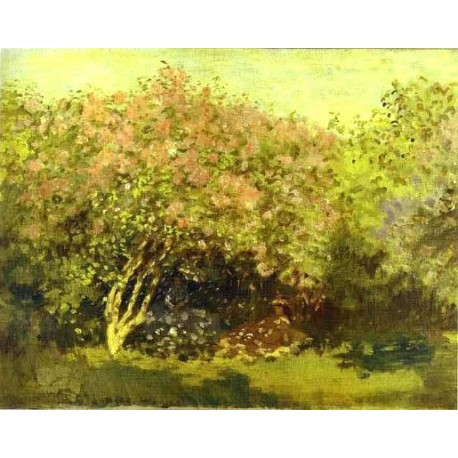 Lilacs in the Sun by Claude Oscar Monet - Art gallery oil painting reproductions