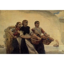 A Voice FromThe Cliffs by Winslow Homer - Art gallery oil painting reproductions