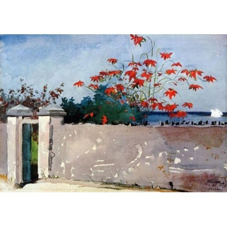 A Wall, Nassau by Winslow Homer - Art gallery oil painting reproductions
