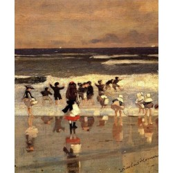 Beach Scene by Winslow Homer - Art gallery oil painting reproductions