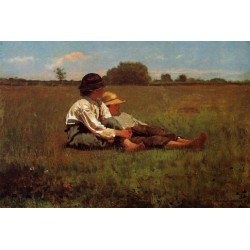 Boys in a Pasture by Winslow Homer - Art gallery oil painting reproductions