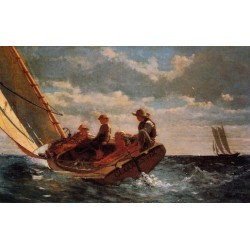 Breezing Up Or A Fair Wind by Winslow Homer - Art gallery oil painting reproductions