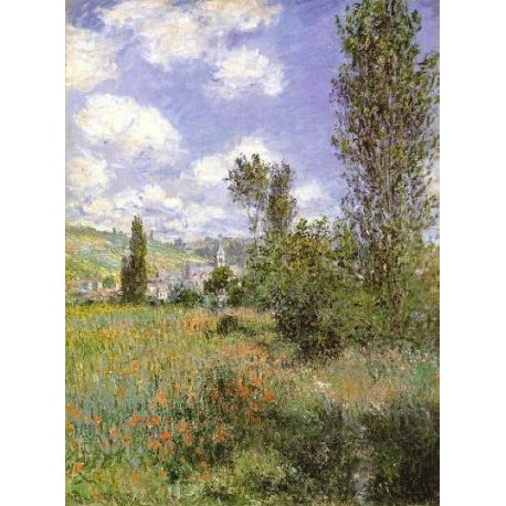lle Saint Martin Vetheuil by Claude Oscar Monet - Art gallery oil painting reproductions