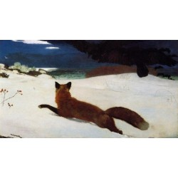 Fox Hunt by Winslow Homer - Art gallery oil painting reproductions