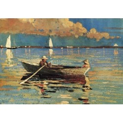 Gloucester Harbor by Winslow Homer - Art gallery oil painting reproductions