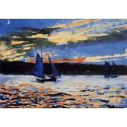 Gloucester Sunset by Winslow Homer - Art gallery oil painting reproductions