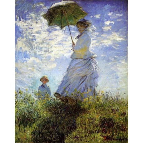 Madame Monet and Her Son by Claude Oscar Monet - Art gallery oil painting reproductions