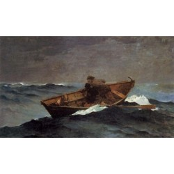 Lost on the Grand Banks by Winslow Homer - Art gallery oil painting reproductions