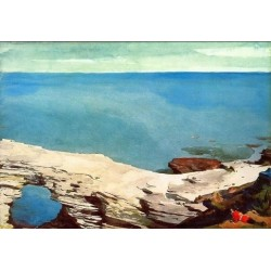 Natural Bridge, Bermuda by Winslow Homer - Art gallery oil painting reproductions