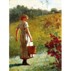 Returning From The Spring by Winslow Homer - Art gallery oil painting reproductions