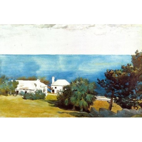 Shore at Bermuda by Winslow Homer - Art gallery oil painting reproductions