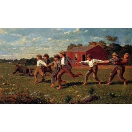Snap the Whip by Winslow Homer- Art gallery oil painting reproductions