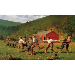 Snap the Whip I by Winslow Homer - Art gallery oil painting reproductions
