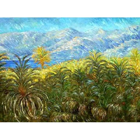 Palm Trees at Bordighera by Claude Oscar Monet - Art gallery oil painting reproductions
