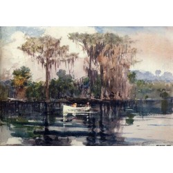St. John's River, Florida by Winslow Homer - Art gallery oil painting reproductions