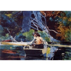 The Adirondack Guide by Winslow Homer - Art gallery oil painting reproductions
