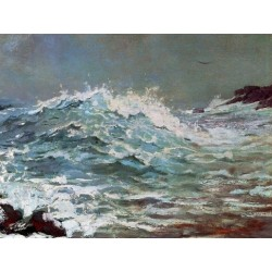 The Backrush by Winslow Homer - Art gallery oil painting reproductions