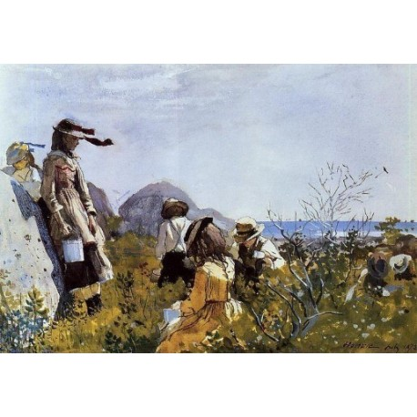 The Berry Pickers by Winslow Homer - Art gallery oil painting reproductions
