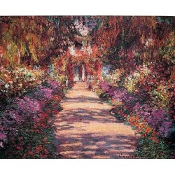 Pathway in Monets Garden at Giverny by Claude Oscar Monet -  Art gallery oil painting reproductions