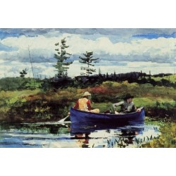 The Blue Boat by Winslow Homer - Art gallery oil painting reproductions
