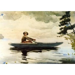 The Boatsman by Winslow Homer - Art gallery oil painting reproductions