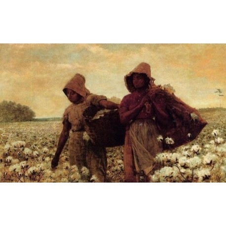 The Cotton Pickers by Winslow Homer - Art gallery oil painting reproductions