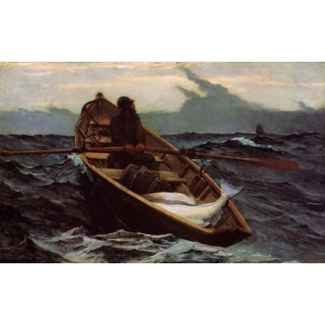 The Fog Warning by Winslow Homer - Art gallery oil painting reproductions