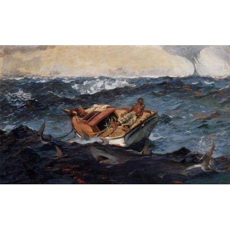 The Gulf Stream by Winslow Homer - Art gallery oil painting reproductions