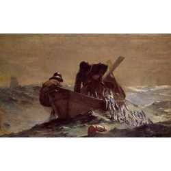 The Herring Net by Winslow Homer - Art gallery oil painting reproductions